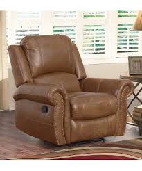 love this product cognac theo leather recliner
