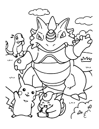 Coloring Pages Smiling Pokemon Coloring Pages For Kids Printable