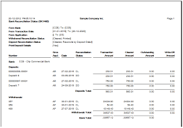 bank reconciliation form bank reconciliation reports in sage 300 erp sage 300 erp tips