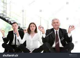 meditation businessman office. Business People Relaxing In Meditation Pose Office Businessman