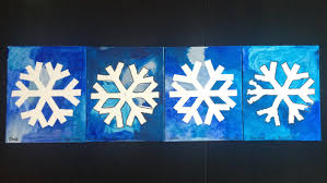 write each child s name and the date on each painting you can also give the kids the option of outlining the snowflake with the marker although this
