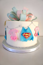 Gender Reveal cake for the love of Superman! Yes they are having a boy!
