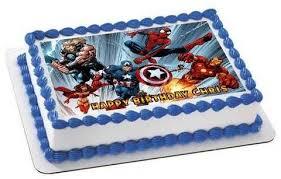 Avengers Edible Cake Topper Cupcake Toppers Strips Edible