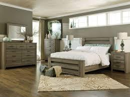 Ashley Furniture B248 Zelen - Modern Queen or King Panel Bed Frame Bedroom Set