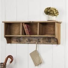 natural wood wall mounted coat rack
