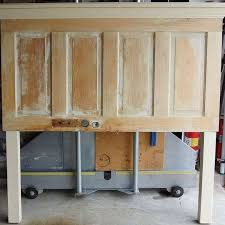 queen size old door headboard made on the light side bedroom ideas