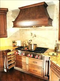 copper stove kitchen fresh tiles for behind backsplash range hood wall shield