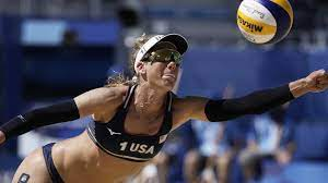 U.S. beach volleyball team advances to ...