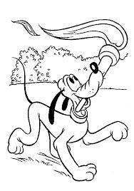 Pluto Kleurplaat Disney Kleurplaat Animaatjesnl