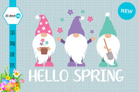 Freesvg.org offers free vector images in svg format with creative commons 0 license (public domain). Gnomies Spring Spring Gnome Graphic By All About Svg Creative Fabrica