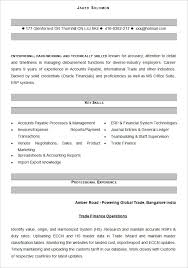Resume Format For Experienced Accountant Pdf Resume Format For