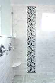 accent tile shower accent shower tile gorgeous walk in shower with subway tile accent ideas shower