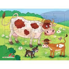 Báo giá Bộ 4 tấm tranh xếp hình cho bé 30 mảnh ghép, jigsaw puzzle. Đồ chơi  cho bé. Đồ chơi xếp hình bằng giấy chỉ 60.000₫