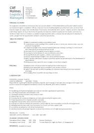 Sample Logistics Manager Resume For Logistics Manager Resume Format ...