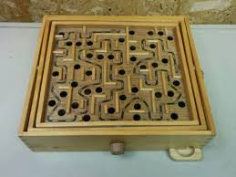 Wooden Maze Game With Ball Bearing LARGE WOODEN WOOD LABYRINTH MARBLE BALL MAZE BOARD GAME http 26