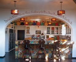 cute colorful spanish style kitchen interior design house ideas