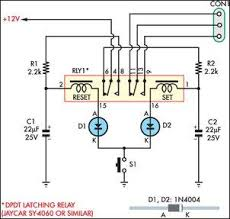 momentary switch teamed with latching relay eeweb community 12v latching relay circuit at 12 Volt Latching Relay Diagram