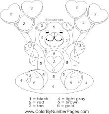 Number Coloring Worksheets Coloring Pages With Numbers Color By ...