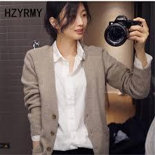 <b>HZYRMY Autumn</b> Winter New Women's Cashmere Cardigan ...
