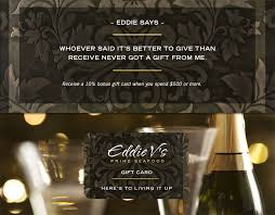 gift cards ed says whoever said it s better to give than receive never got a gift from me