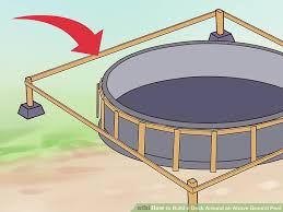 simple pool deck plans. Perfect Deck Image Titled Build A Deck Around An Above Ground Pool Step 11 On Simple Plans D