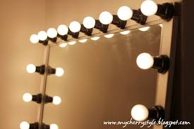 diy hollywood style mirror with lights tutorial from scratch for real my cherry style