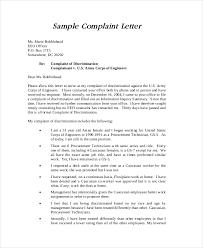 complaint letters sample example format  sample discrimination complaint letter
