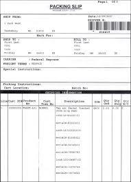 Sample Packing Slip Form Ibm Knowledge Center