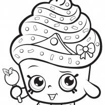 Coloring Page Cupcake Queen Shopkin Coloring Page Free Printable