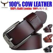 <b>COWATHER Leather</b> Belt for <b>Men</b> Original 100% <b>Genuine Cow</b> ...