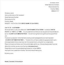 Formal Letter Of Invitation Template Stephhammer Co
