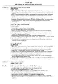 Trainer Resume Sample Software Trainer Resume Samples Velvet Jobs 23