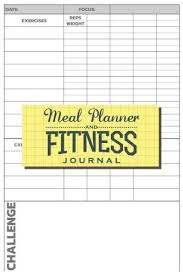 Daily Workout Journal Meal Planner And Fitness Journal Daily Workout Log And Da