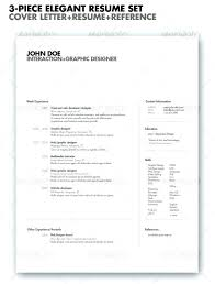 Clean Resume Template Stylish Resume Templates Design Throughout