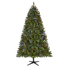 Home Depot Christmas Tree Replacement Lights Home Accents Holiday 7 5 Ft Pre Lit Led Wesley Spruce Artificial Christmas Tree With 550 Surebright Color Changing Lights