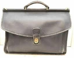 coach vtg beekman leather 5266 messenger portfolio briefcase black laptop bag