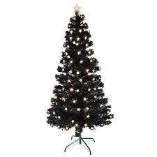 Amazoncom 4u0027 PreLit Color Changing Fiber Optic Artificial Black Fiber Optic Christmas Tree