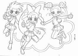 Powerpuff Girls Z Coloring Pages Free