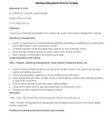 electronic resume sample intended for electronic resume sample - Videographer  Resume Sample