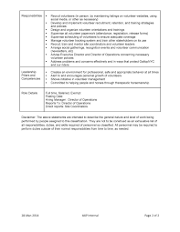 Sample Volunteer Recruiter Resume Volunteer Coordinator Resume Sample Cover Letters And Bewildero Jd 21