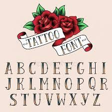 Tetování Písmena Stock Vektory Royalty Free Tetování Písmena