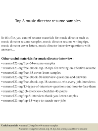 Musician Resume Samples Best Of Top 24 Music Director Resume Samples