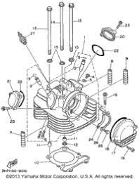 1999 yamaha warrior yfm350xl oem parts babbitts yamaha partshouse cylinder head