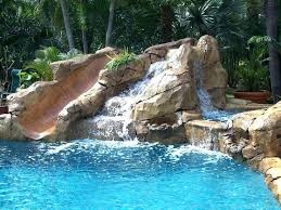 inground pools with waterfalls and slides. Pool Designs With Slides Rock Swimming Waterfall Slide Inground . Pools Waterfalls And G