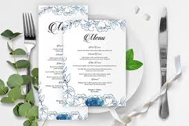 Wedding Menu Card Template