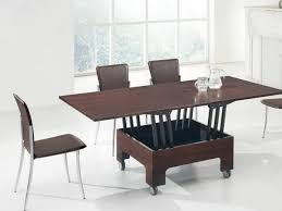 furniture on wheels. modern coffee table transforming into dining furniture on wheels
