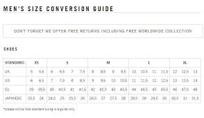 Golden Goose Shoe Size Chart Golden Goose Sneakers Size Guide