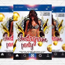 Instagram Party Premium Flyer Template Instagram Size Flyer