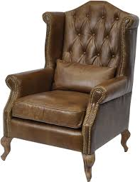 distressed leather chair. Plain Chair Woodcroft Brown Distressed Leather Armchair Buttonback In Chair R