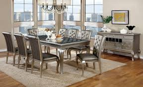 furniture of america dining sets. Furniture Of America CM3219T Champagne Dining Table Set | Glitzy Formal And Chairs In Sets I